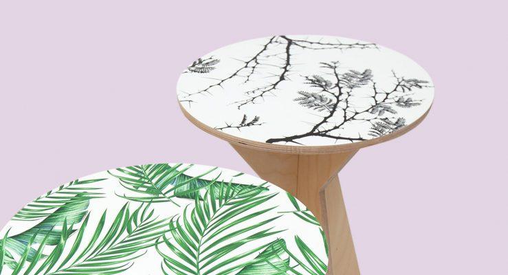 E se imprimisse diretamente em tampos de mesa?