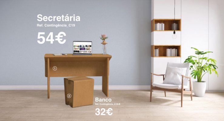 A Rebelo, AG cria mobiliário de cartão #ficaemcasa